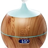 ArtNaturals Essential Oil Diffuser and Humidifier With Bluetooth Speaker Clock and Alarm