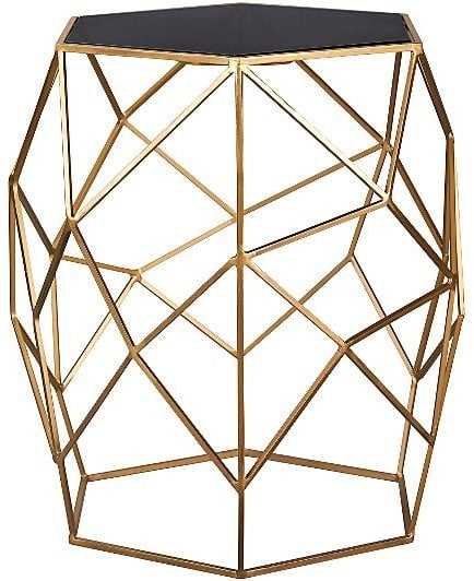 George Home Glass Top Geometric Side Table Chic Side