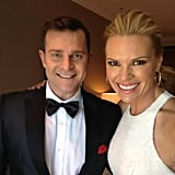 Mornings co-hosts David Campbell and Sonia Kruger matched in monochrome colours for the Logies.
