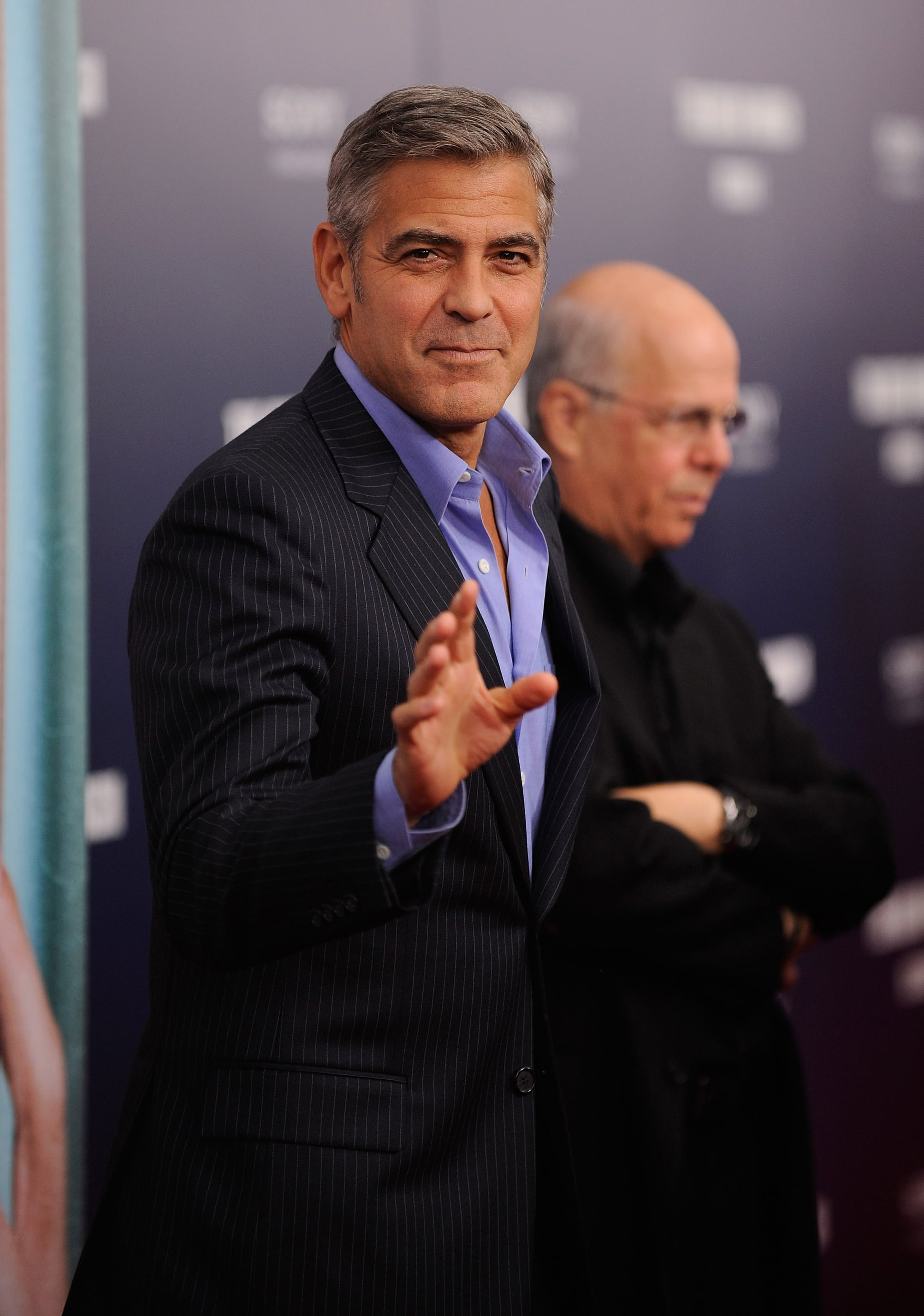 George Clooney at NYC's Ziegfeld Theater for the premiere of The Ides of March.