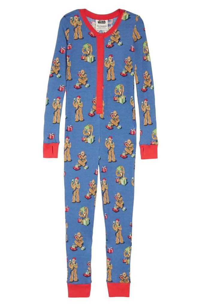 Munki Munki x Star Wars Christmas Chewbacca Fitted One-Piece Pajamas (Toddler, Little Kid & Big Kid)