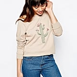 Asos Sweatshirt With Embroidered Cactus ($41)