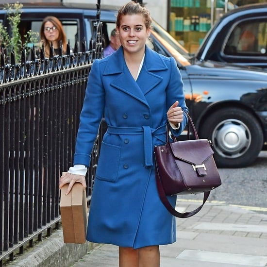 Princess Beatrice Blue Coat Before Eugenie's Wedding 2018