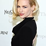 January Jones posed at the Metropolitan Opera gala in NYC.