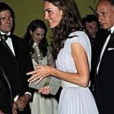 Kate Middleton in Alexander McQueen at BAFTA Brits to Watch dinner.