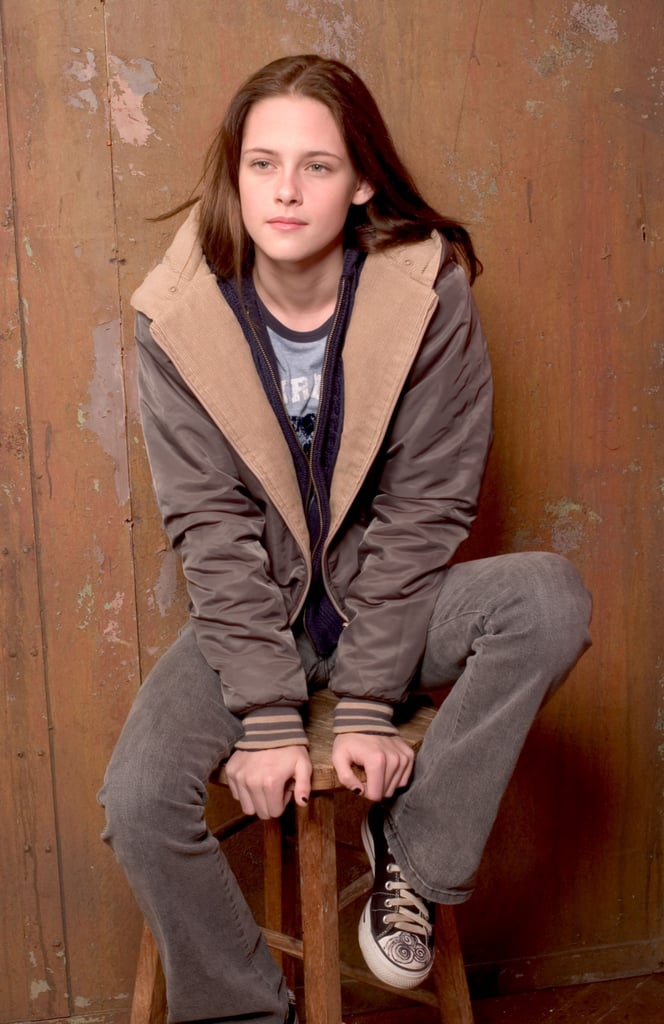 Kristen Stewart hopped on a stool at the Sundance Film Festival for  Speak in January 2004.