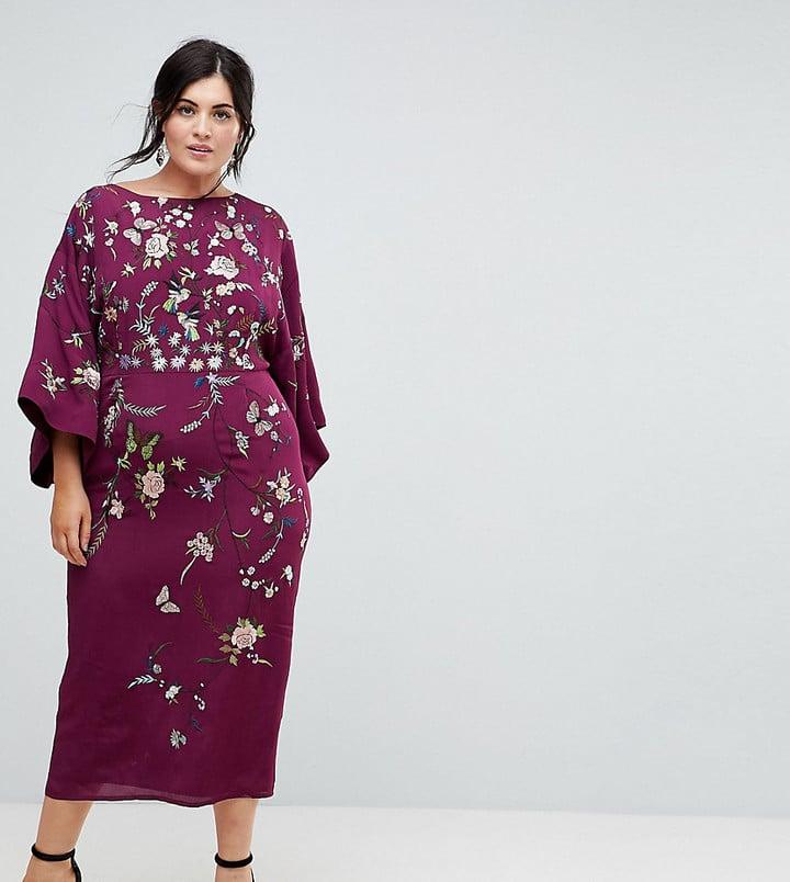 dd04a0c6 Asos Embroidered Kimono Midi Dress | Stylish TV Show Characters ...