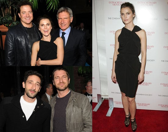 Photos of Gerard Butler and Adrien Brody at Extraordinary Measures Premiere in NYC