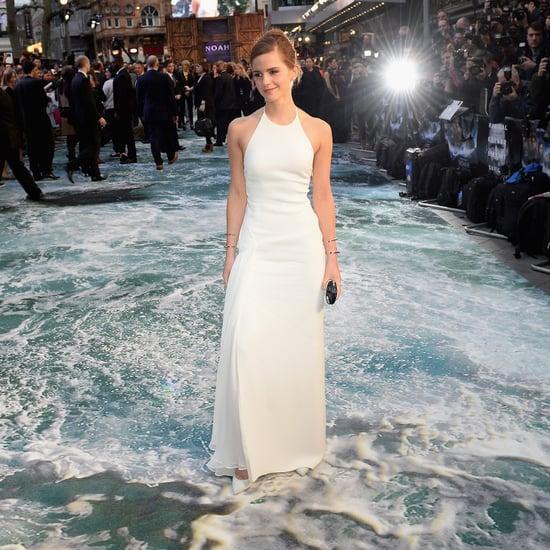 Emma Watson's White Ralph Lauren Gown at Noah UK Premiere
