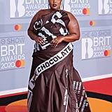 BRIT Awards 2020: Lizzo's Moschino Hershey's Chocolate Dress