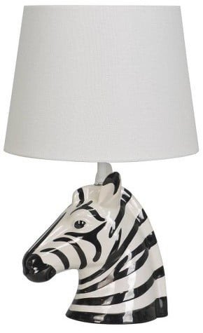 Pillowfort Zebra Table Lamp