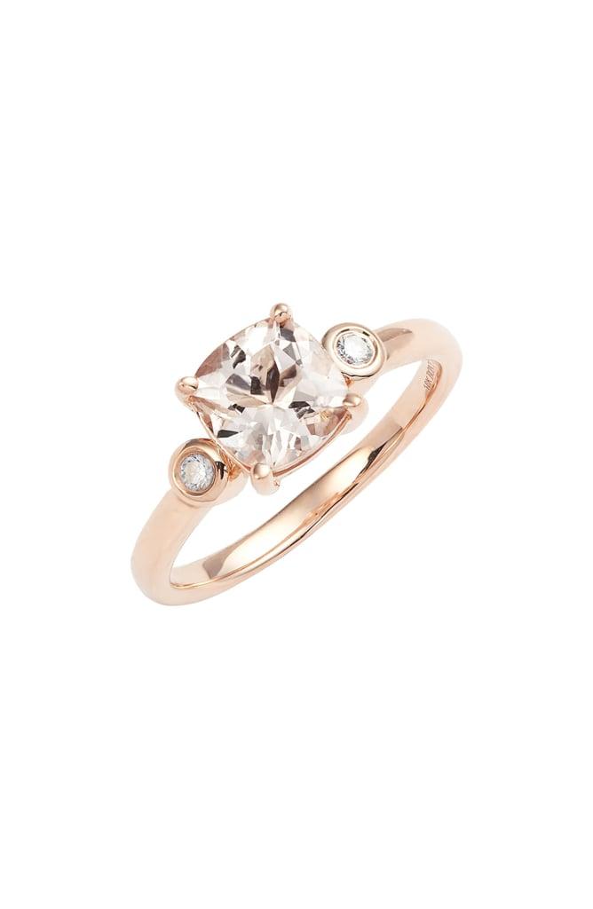 Bony Levy Morganite and Diamond Ring