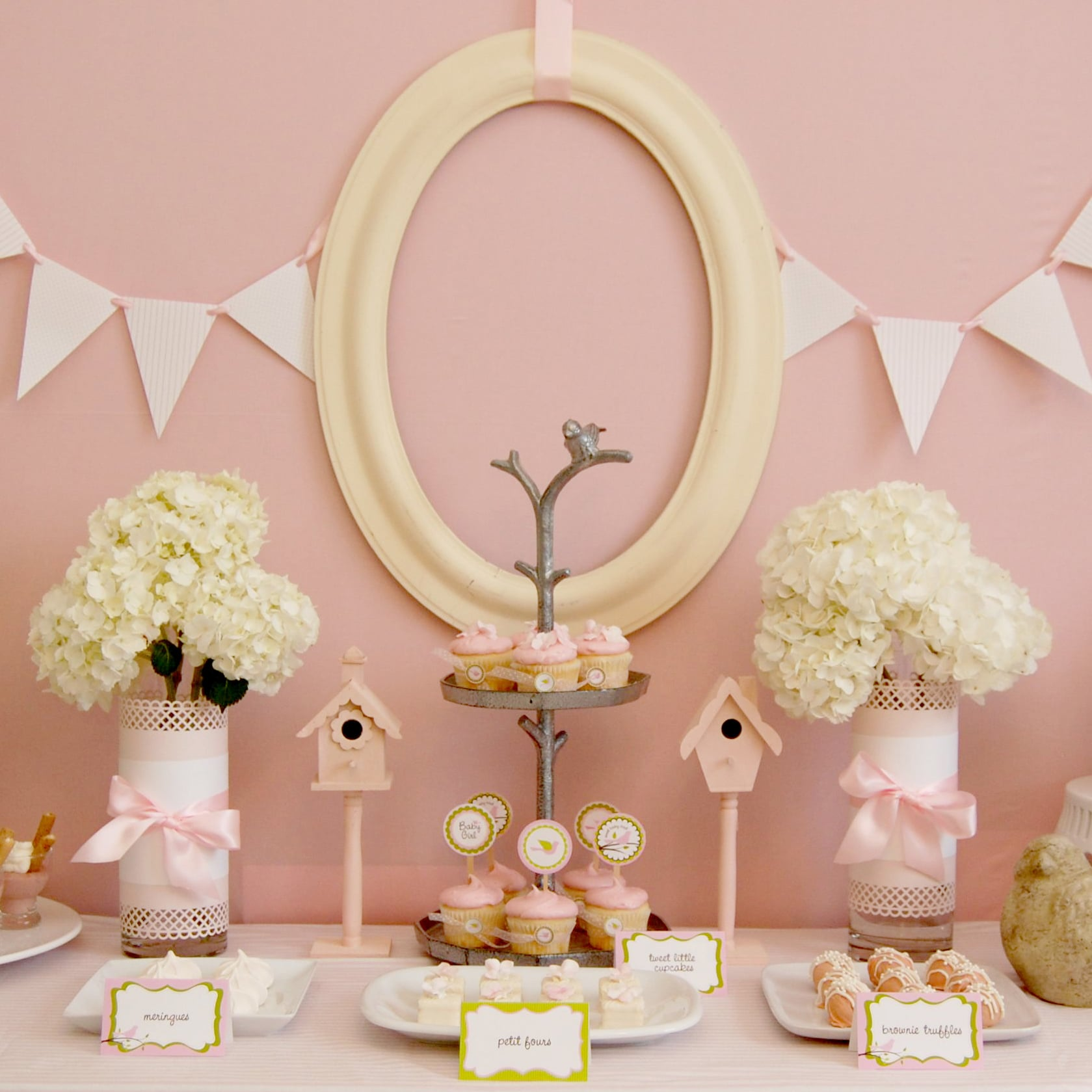 Pink Bird-Themed Baby Shower | POPSUGAR Moms