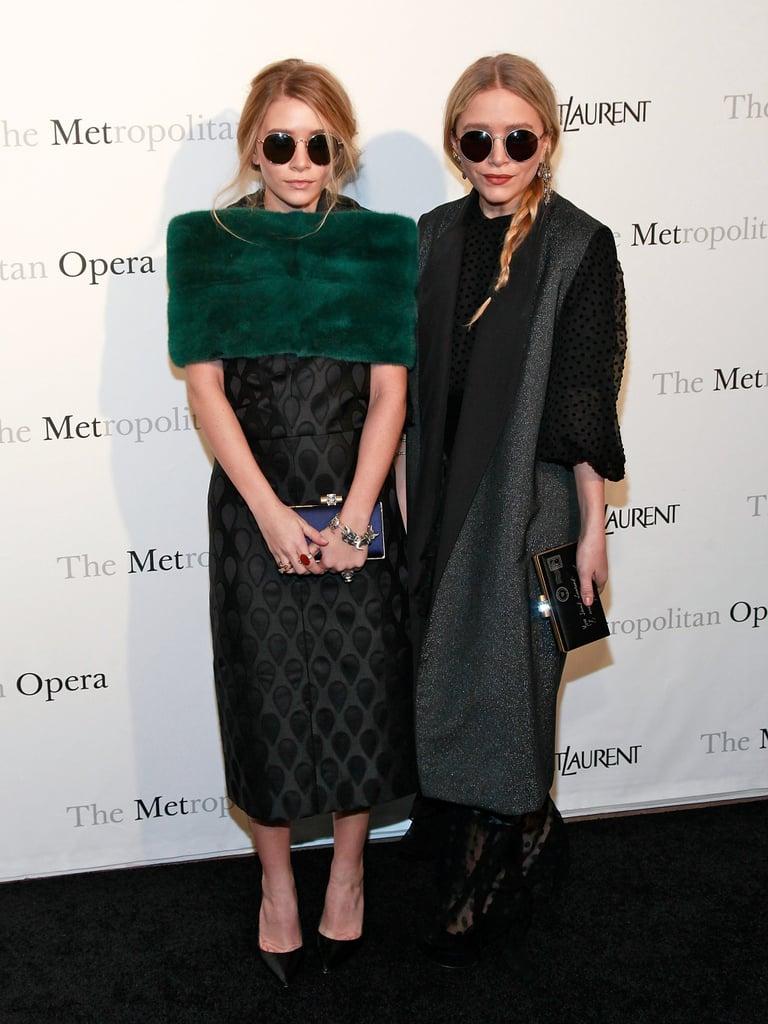 Mary-Kate and Ashley Olsen Wearing Vintage Dresses