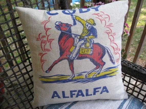 Grainsack Horse Pillow