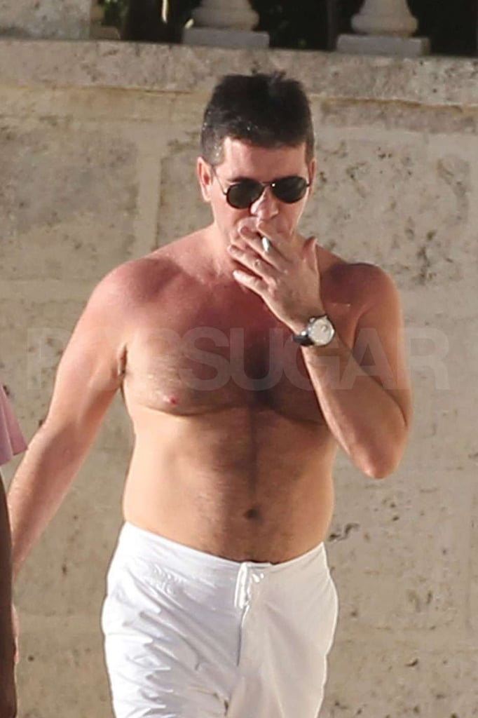 Shirtless Simon Cowell Kicks Off Christmas Jet Skiing in Barbados