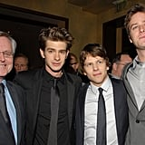 Andrew Garfield Breaks From Spider-Man to Get Social With Jessie Eisenberg and Armie Hammer