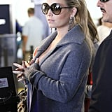 Jessica Simpson looked calm and relaxed before her flight.