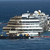 The Costa Concordia was successfully righted, then prepared to be towed and scrapped.