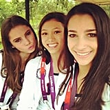 Aly Raisman shared a snap with her teammates McKayla Maroney and Kyla Ross.  Source: Twitter user aly_raisman