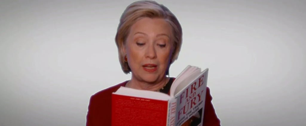 Hillary Clinton Reading Fire and Fury at Grammys 2018 Video