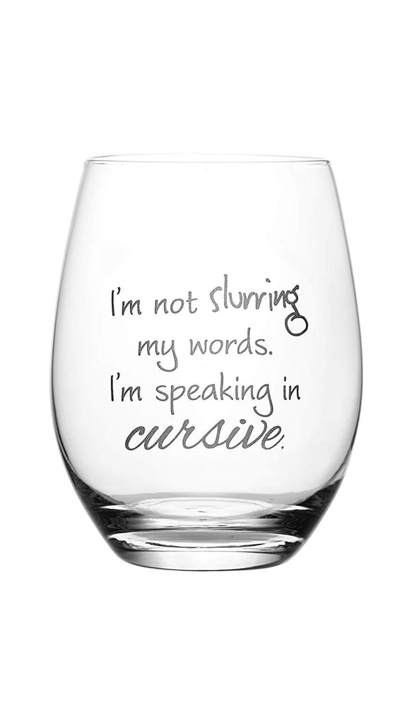 Etched Wine Glass by Lushy Wino