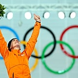 Ireen Wust of the Netherlands had an emotional moment after taking home the gold for the women's 3,000-meter speed skating event.