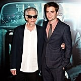 Robert Pattinson and David Cronenberg got together for a photo at the Cosmopolis premiere in Paris.