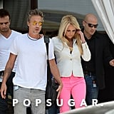 Britney Spears Brings a Pop of Pink to Miami With Jason