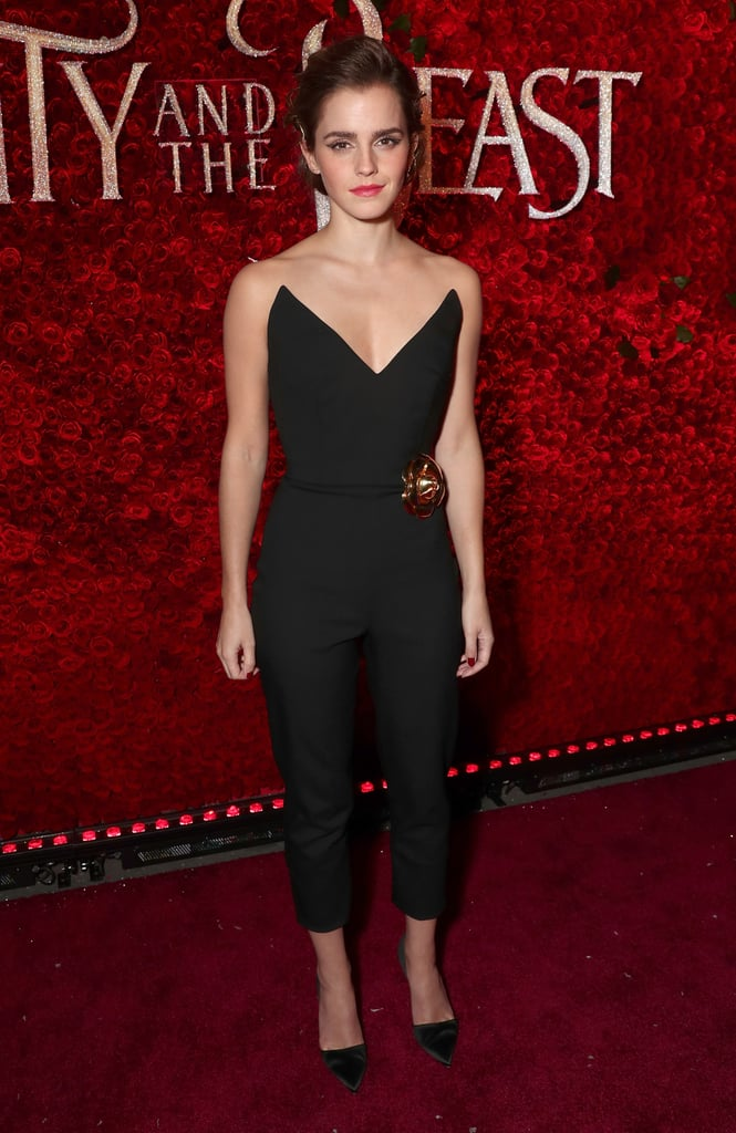 Emma Wore a Jumpsuit to the LA Premiere of Beauty and the Beast