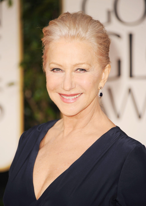 Helen Mirren at the Golden Globes.