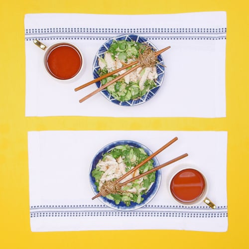 Spicy Soy Soba With Chicken, Cucumbers, and Watercress