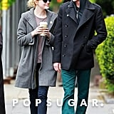 Emma Stone and Andrew Garfield stopped for lunch in their NYC neighborhood.