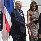Melania Trump Alexander McQueen Tweed Dress