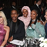 Donatella Versace, A$AP Rocky, Halima Aden, Rihanna, and Stephanie Phair