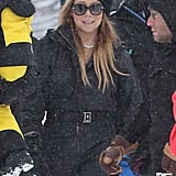 Mariah Carey hit the slopes in Aspen on Tuesday.