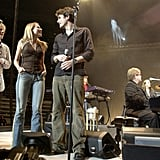 John Mayer and Jewel joined Elton John for a set in January 2003.