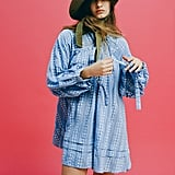 UO Jai Embroidered Long-Sleeve Frock Dress