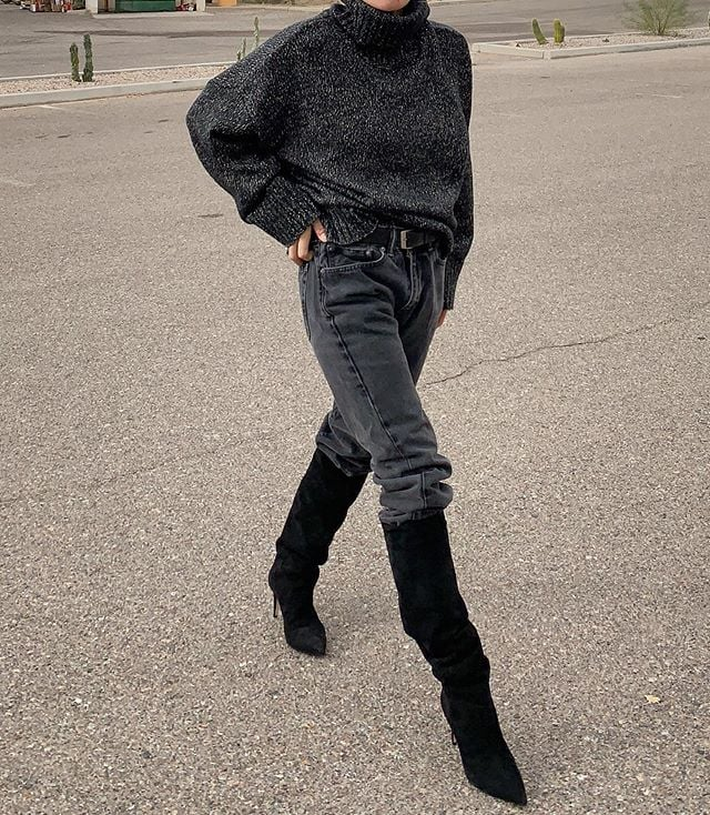 Jeans Outfit Ideas For Winter From Instagram