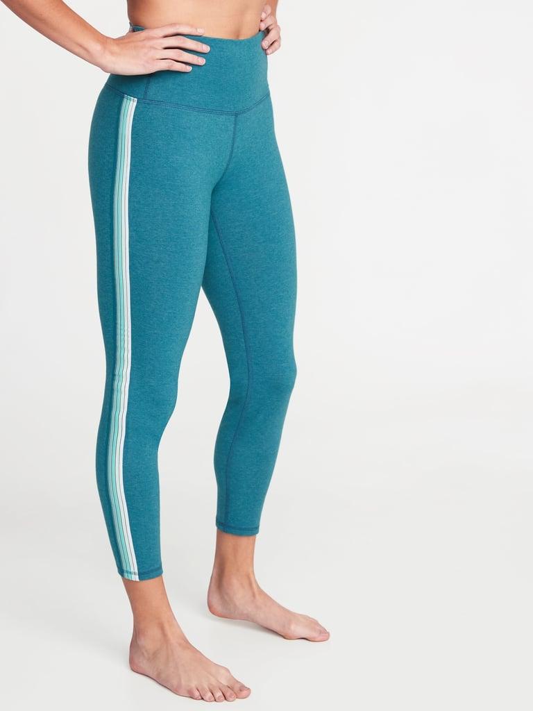 Old Navy High-Rise Side-Stripe 7/8-Length Balance Yoga Leggings