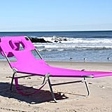 Buy the Ostrich Chaise Lounge in Pink