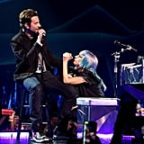 "Bradley joined Gaga for a performance of ""Shallow"" during her Enigma residency in Las Vegas."