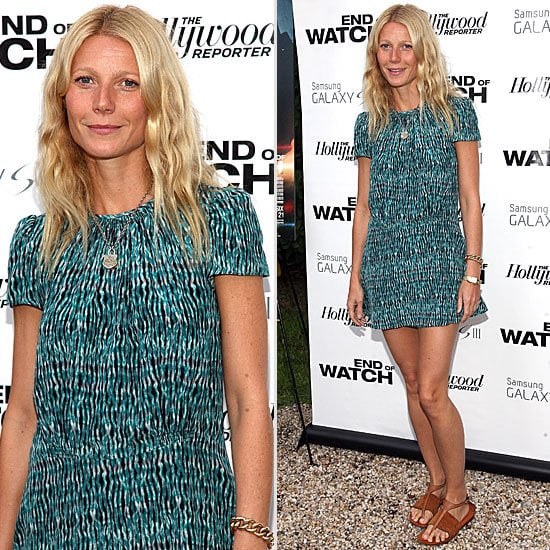 Steal Gwyneth Paltrow's Laid Back Hamptons Style at the End of Watch Screening: Sandas + Printed Dress = Perfection