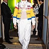 Bella Hadid at New York Fashion Week in Wandler Boots