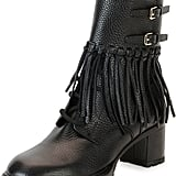 Valentino Tassel Leather Combat Boot ($1,975)