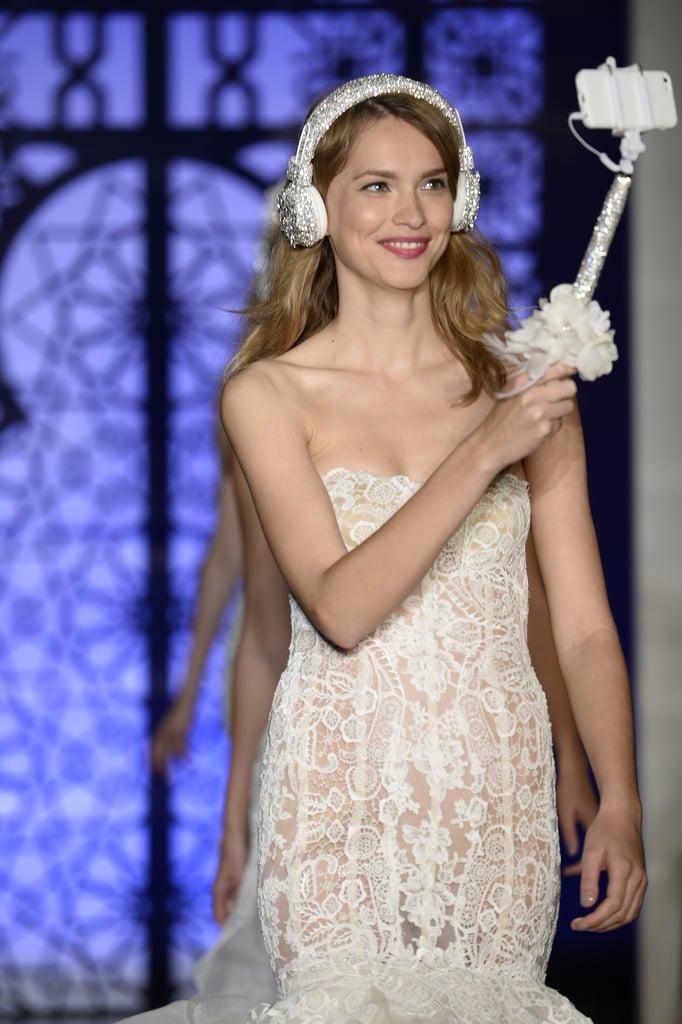Reem Acra Bridal Headphones and Selfie Stick