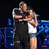 Beyoncé made a surprise appearance during Jay Z's 2010 Coachella performance.