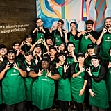 All Employees Wear a Green Apron With Something Special