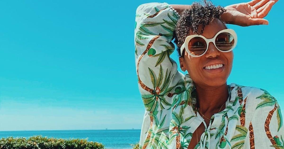 Outfit Obsession: Kerry Washington's Palm-Tree Dress Makes Fall Feel Like Vacation Season