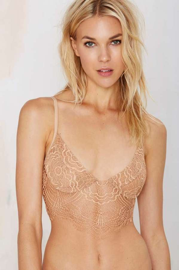 ea794a830d For Love   Lemons SKIVVIES Bat Your Lashes Lace Bralette in Nude ( 125)